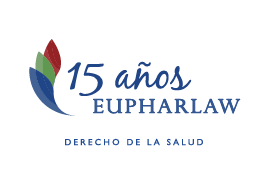 Logotipo de 15 años de Eupharlaw - Derecho de la Salud