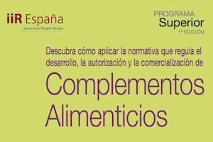Programa superior de formación sobre Complementos Alimenticios en Barcelona