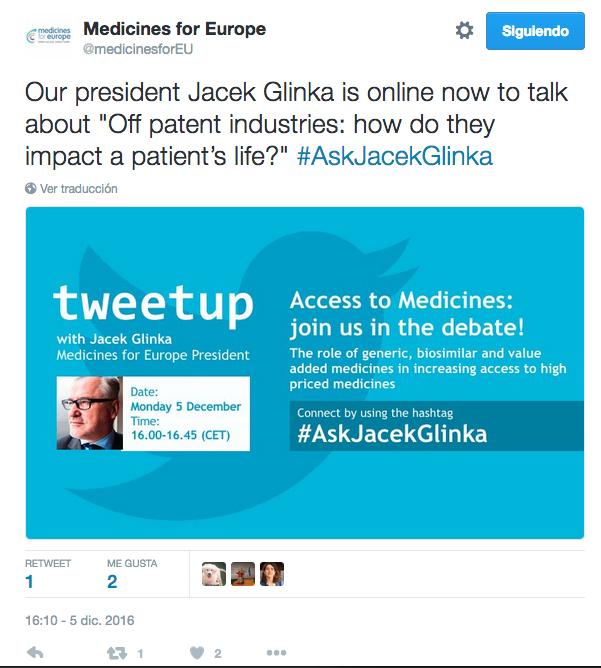 Jacek Glinka en Twitter