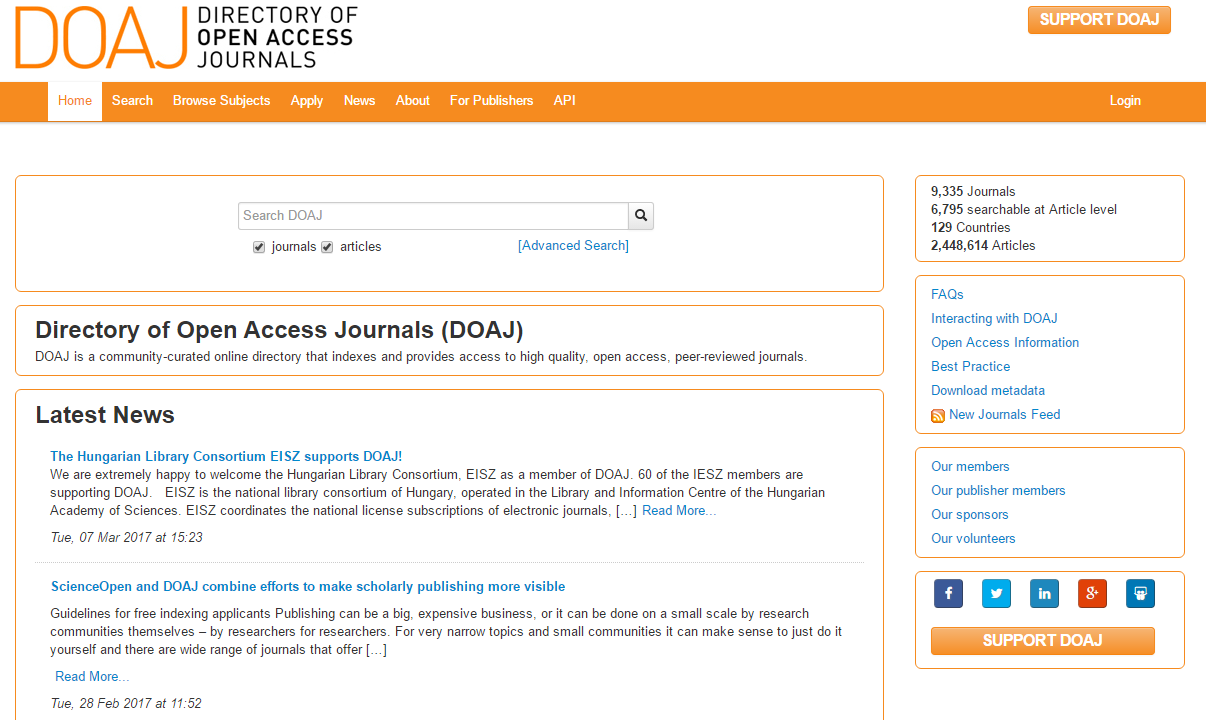 300317 DOAJ Directory of Open Access Journals